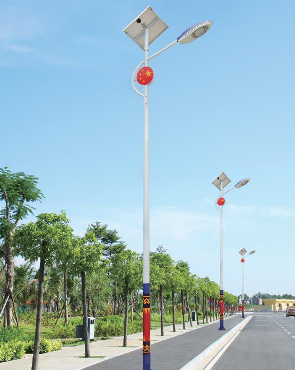 韶光订购80盏地方特色太阳能路灯纪实