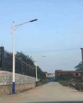 广东河源农村市电路灯项目施工纪实