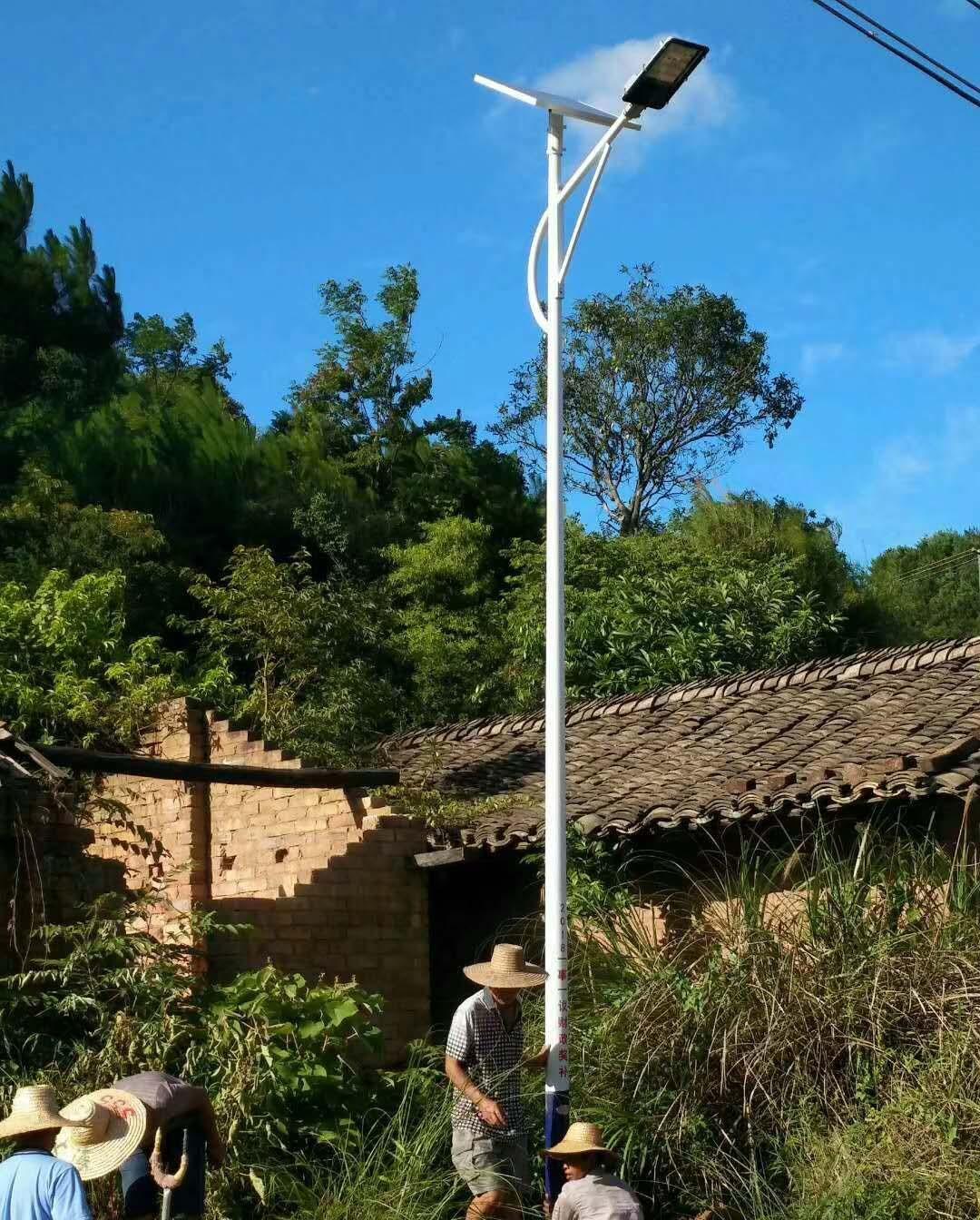 湖南永州新农村建设太阳能路灯工程施工纪实