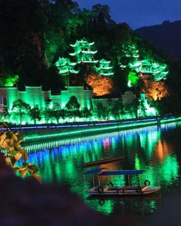 贵州古镇小河亮化案例缩