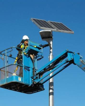 市电改太阳能路灯